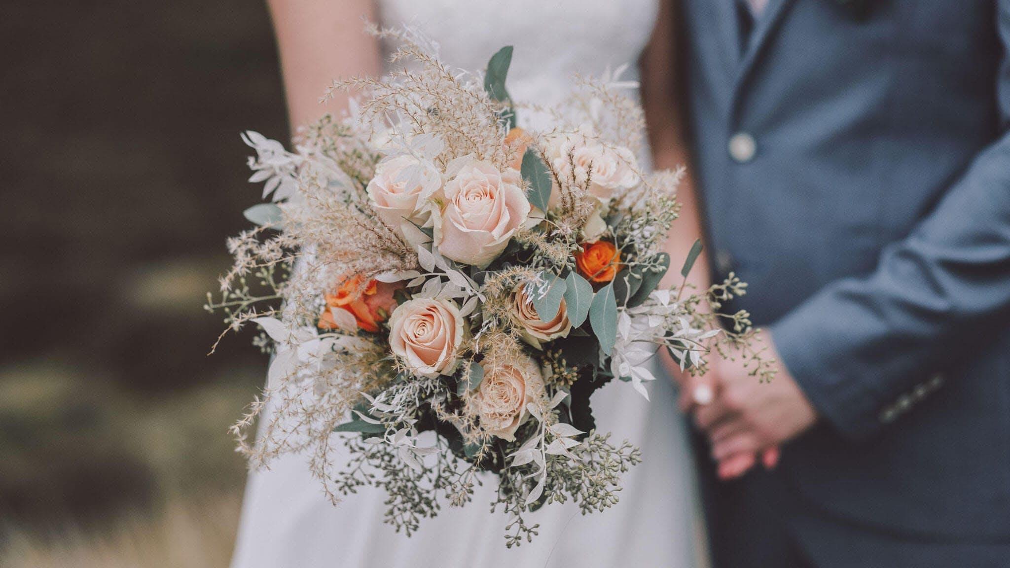 Brautstrauß als Hindergrundbild